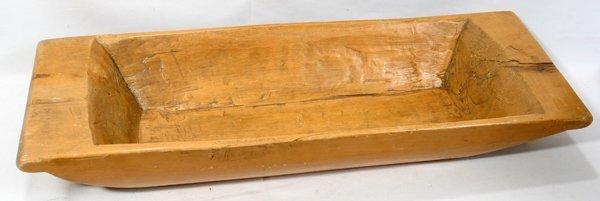 122363: EARLY AMERICAN HAND HEWN WOOD DOUGH BOWL