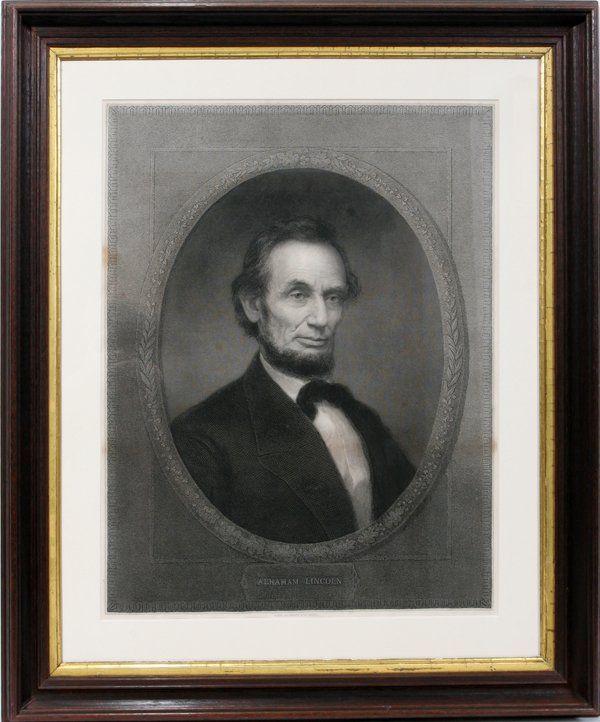 """122556: W. E. MARSHALL ENGRAVING """"ABRAHAM LINCOLN"""""""