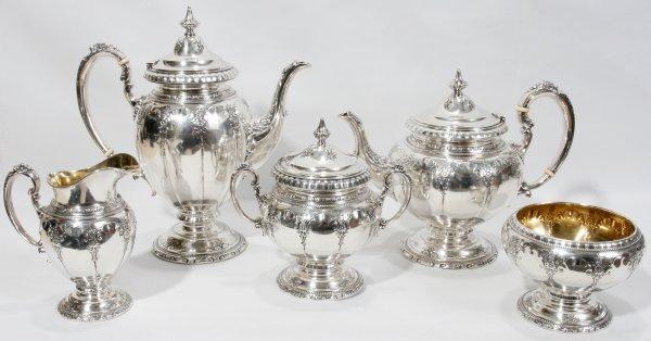 011021: TOWLE 'ROYAL WINDSOR' STERLING TEA/COFFEE SET
