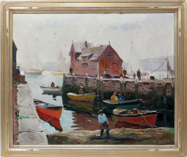 012004: ANTHONY THIEME OIL ON CANVAS 'LOW TIDE'