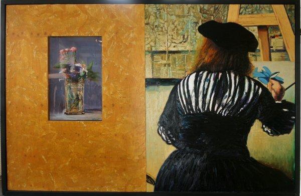 012006: DAVID BIERK OIL ARTIST IN STUDIO - TO MANET