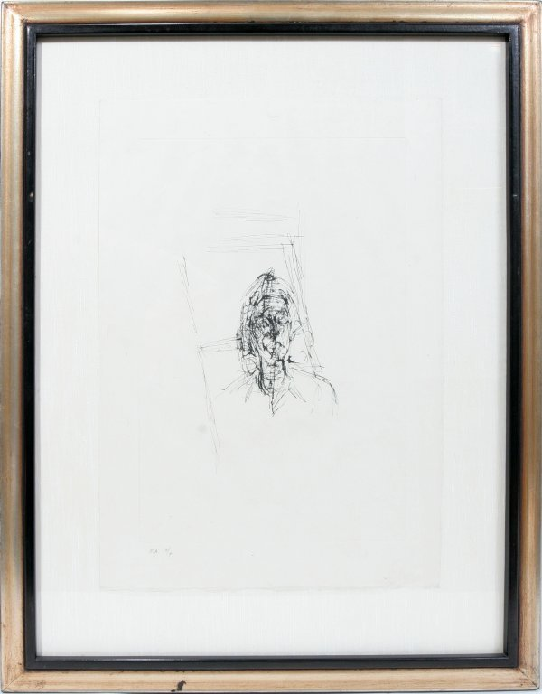 """012013: AFTER A GIACOMETTI ETCHING """"HEAD OF A MAN"""""""