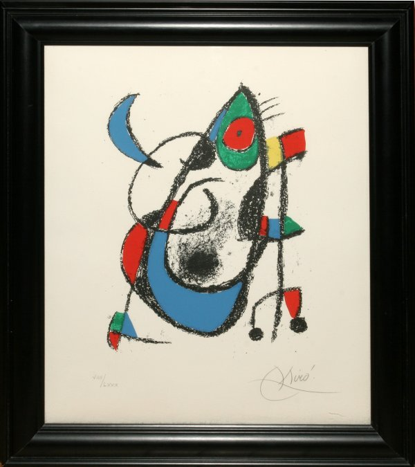 012015: JOAN MIRO COLOR LITHOGRAPH, 1975, UNTITLED