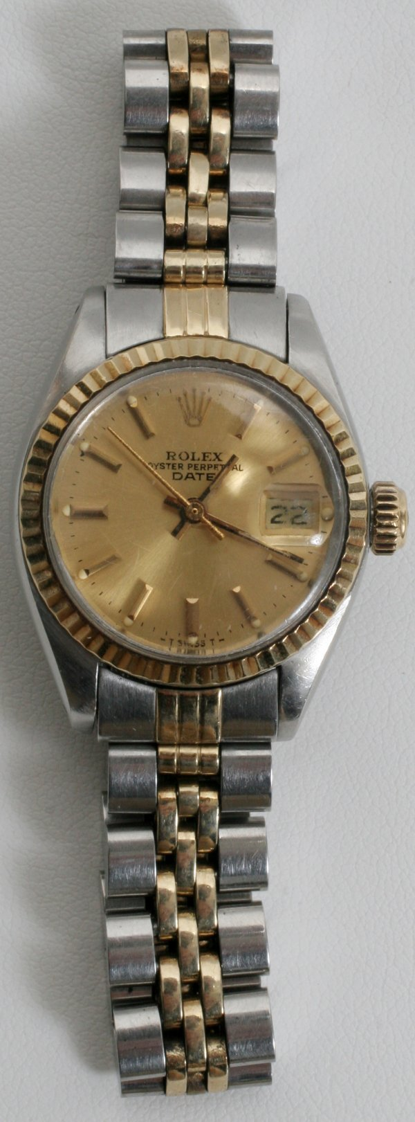 012023: 18KT AND STAINLESS STEEL, LADY ROLEX