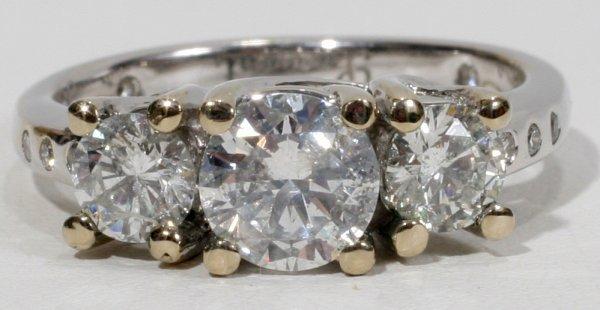012024: THREE DIAMOND, 1.75 CT. RING SET IN 14KT GOLD