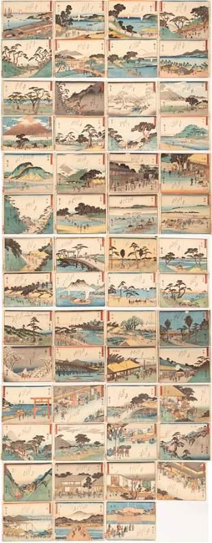 UTAGAWA HIROSHIGE WOODBLOCK PRINTS