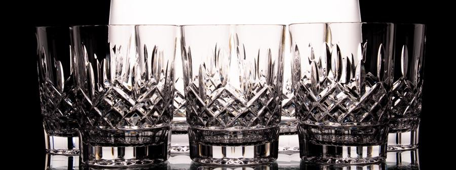 "WATERFORD CRYSTAL ""LISMORE"" OLD FASHION  TUMBLERS"