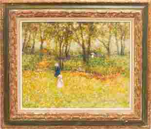 ANDRE GISSON OIL ON CANVAS, SUMMER FIELD