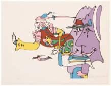 "PETER MAX, SERIGRAPH, A.P.X,  1970, H 21.5"" W 28"""