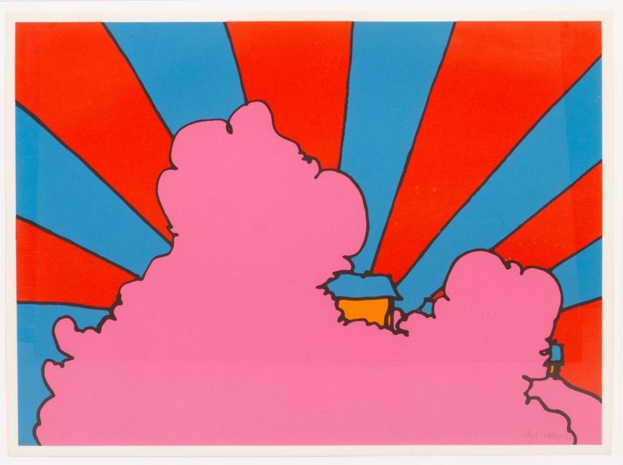 """PETER MAX, SERIGRAPH, #47/100, 1971 H 22"""" W 30"""""""