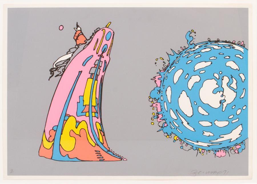 """PETER MAX, SERIGRAPH, #77/100, 1971, H 21"""""""