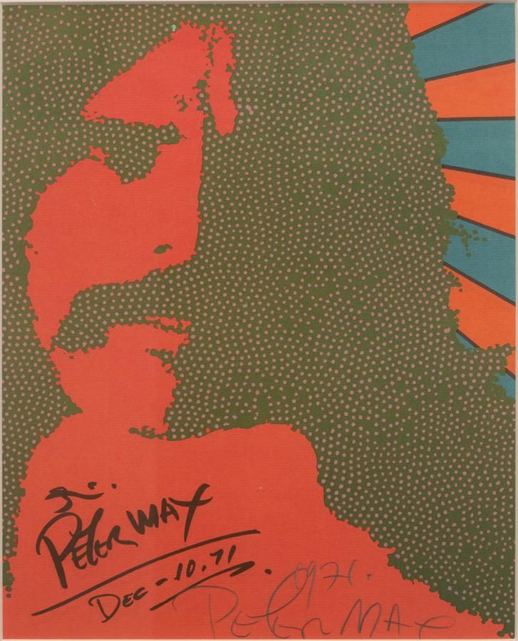 """PETER MAX SERIGRAPH ON PAPER H 13"""" W 9.5"""""""