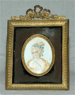 WATERCOLOR PORTRAIT MINIATURE, CIRCA 1850
