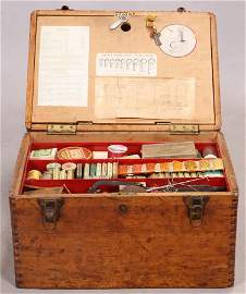 FISHERMAN'S TACKLE MAKING  EQUIPMENT IN BOX