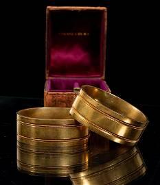 14KT GOLD FILLED BANGLE BRACELETS, PAIR