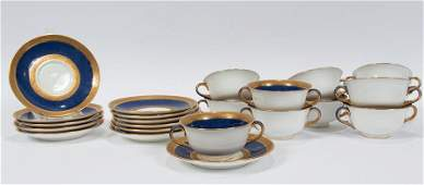 WEDGWOOD PORCELAIN CREAM SOUPS AND UNDER PLATES