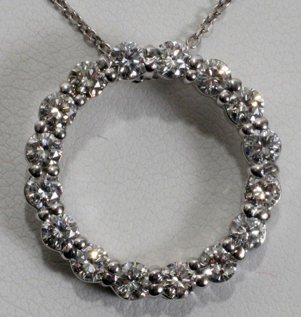 020012: 1.30 CT. DIAMOND & 14KT W/GOLD CIRCLE PENDANT