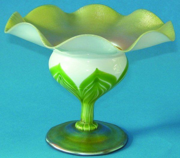 021001: L. C. TIFFANY FAVRILE GLASS FLORIFORM VASE