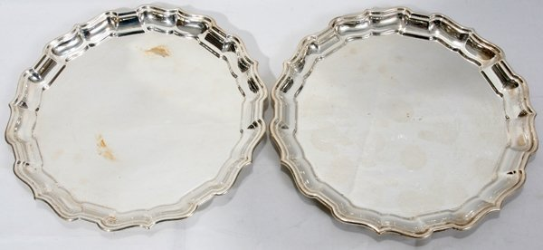 021008: REED & BARTON 'CHIPPENDALE' STERLING TRAYS
