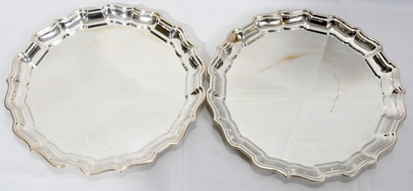 021009: REED & BARTON 'CHIPPENDALE' STERLING TRAYS