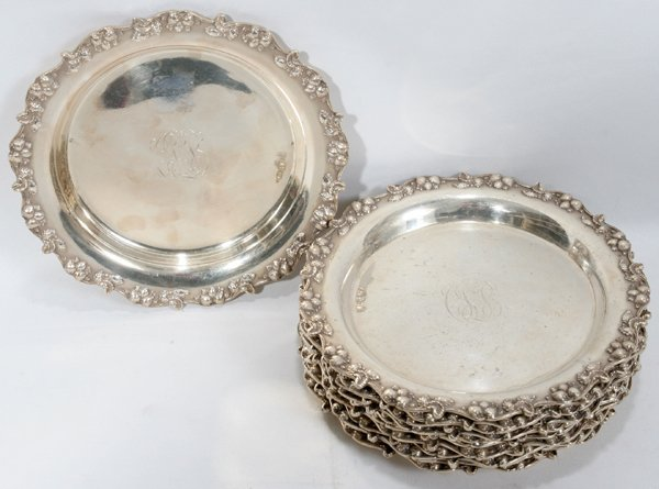 021010: REDDALL & CO. STERLING HORS D'OEUVRES PLATES