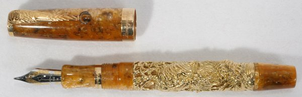 022017: MONTEGRAPPA 18KT GOLD & RESIN FOUNTAIN PEN