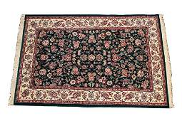 """INDO-PERSIAN HANDWOVEN WOOL RUG, W 3' 9"""", L 5' 9"""""""