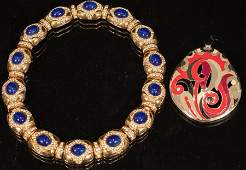 EISENBERG AND CINER BROOCH AND  NECKLACE
