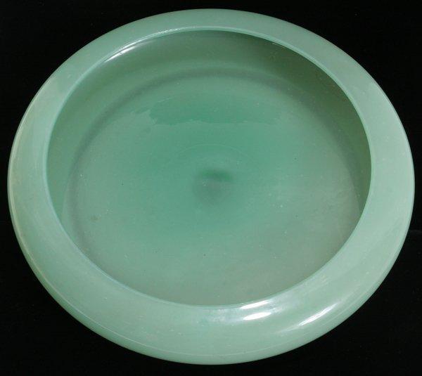 """030013: STEUBEN JADEITE ART GLASS BOWL, H 1 3/4"""""""