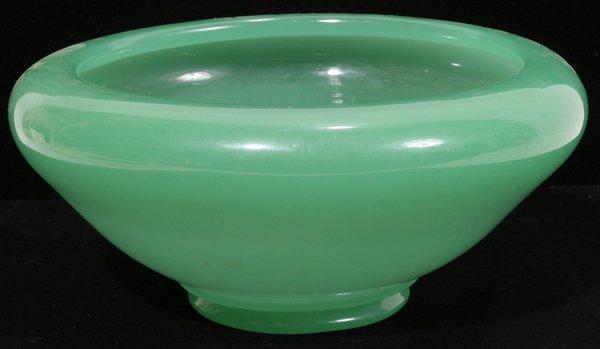 """030014: STEUBEN JADEITE ART GLASS VASE, H 3"""""""