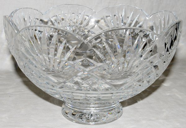 """030016: WATERFORD CRYSTAL CENTERPIECE BOWL, H 6"""""""