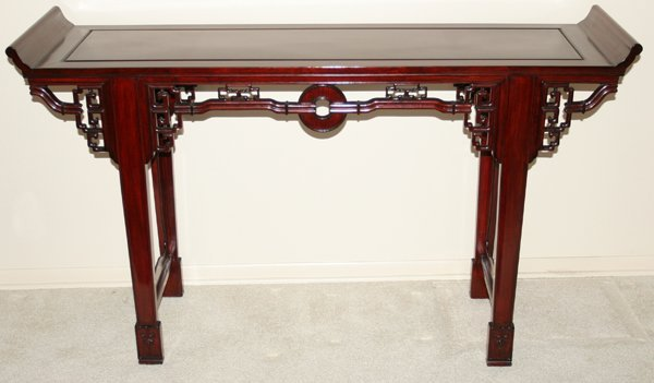 """030022: CHINESE ROSEWOOD ALTAR TABLE, 20TH C, H 36"""""""