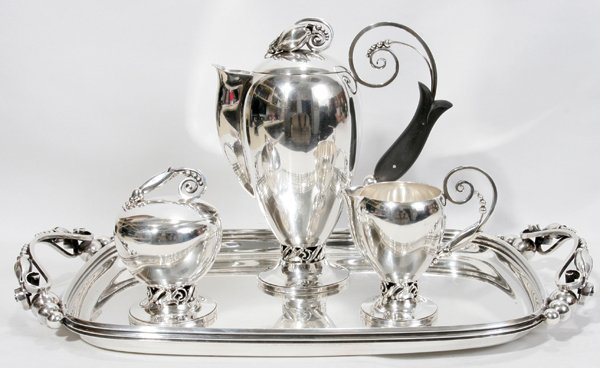 031005: INTERNATIONAL 'LA PAGLIA' STERLING COFFEE SET