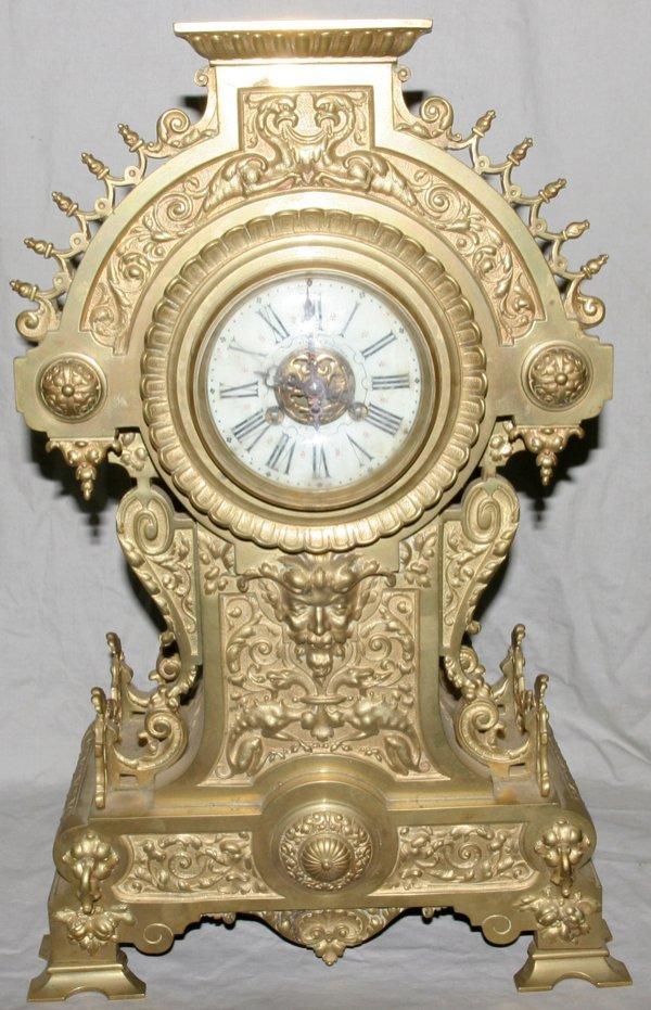 031007: CIE DES BRONZES BRUXELLES BRONZE MANTLE CLOCK
