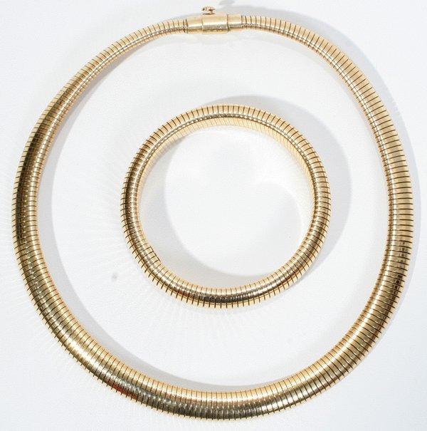 031021: FORSTNER 14KT GOLD NECKLACE & BRACELET