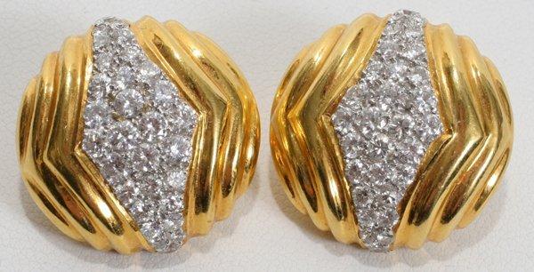 031024: 18KT GOLD & APPROX. 1.2CTTW DIAMOND EARRINGS
