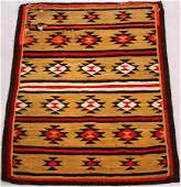 """NAVAJO, HAND WOVEN WOOL RUG, AS IS W 43"""", L 55"""""""