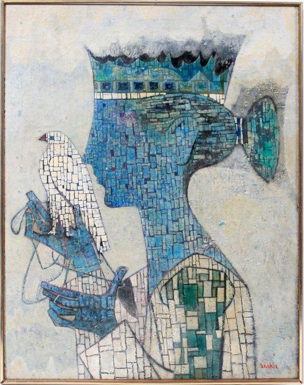 032005: SARKIS SARKISIAN OIL/MASONITE 'ANCIENT QUEEN'