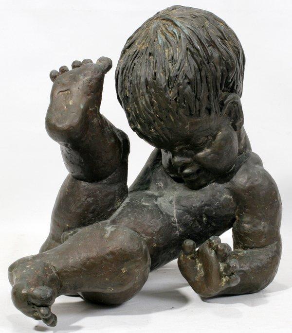 032016: BETTY JACOBS BRONZE SCULPTURE BABY BOY: AMERICA