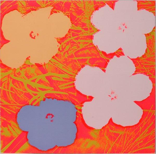 """032017: &Y WARHOL COLOR SCREENPRINT 1970, """"FLOWERS"""""""