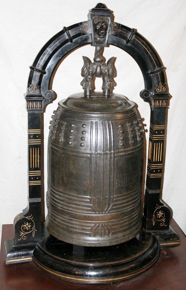 032019: JAPANESE BRONZE TEMPLE BELL, EDO PERIOD, C.1841