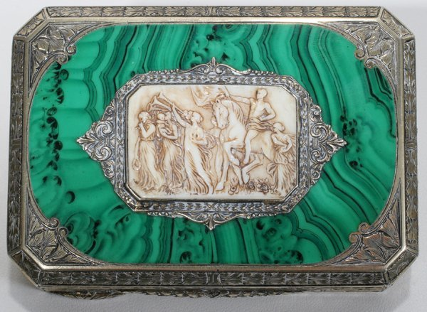 041016: AUSTRIAN SILVER COMPACT FOR HOUBIGANT, C. 1920