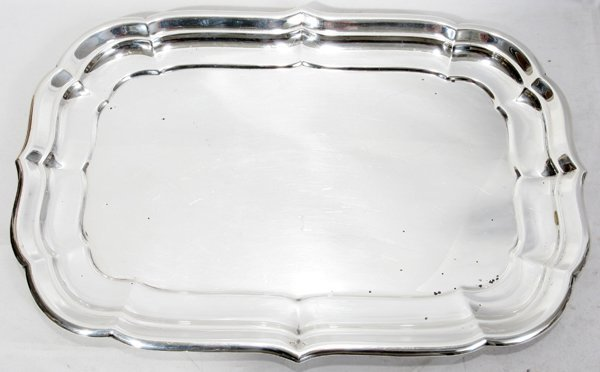041038: REED & BARTON 'WINDSOR' STERLING TRAY, L 18""