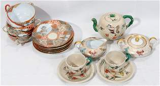 041547: JAPANESE ASSORTED TEA WARE, 15 PIECES, 20TH C.