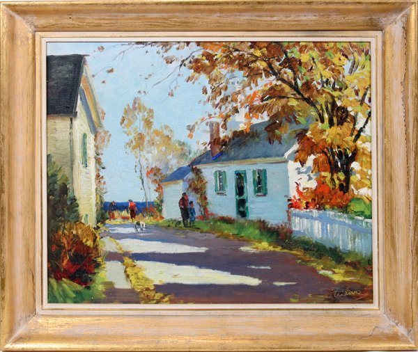 """042003: ANTHONY THIEME OIL/CANVAS """"YELLOW LEAVES"""""""