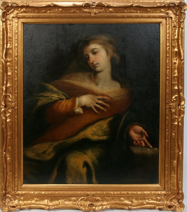 """042009: OLD MASTER OIL ON CANVAS, 45"""" X 36"""", 18TH C."""