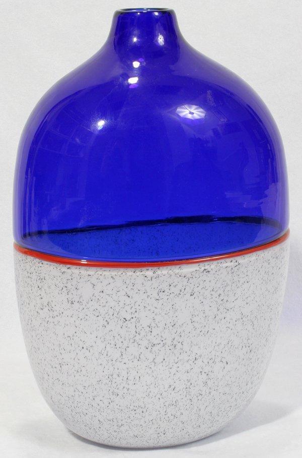 042016: LINO TAGLIAPIETRA MURANO GLASS VASE SIGNED 1985
