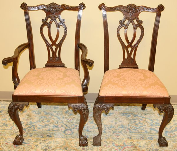 Mahogany Dining Set Tables Victorian Table And Queen Anne Chairs Set 10 Volume Large