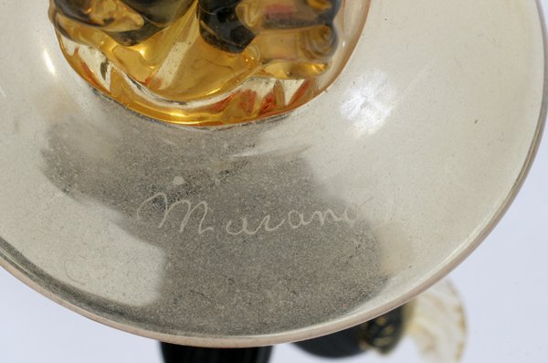 042280: MURANO GLASS FIGURES OF FLAMENCO DANCERS, PAIR - 2