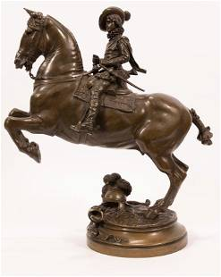 EMMANUEL FREMIET, FR 1824 - 10, BRONZE SCULPTURE